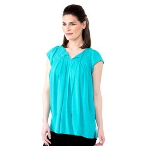 New! Cherokee Texture Woven Peasant Top (XL)